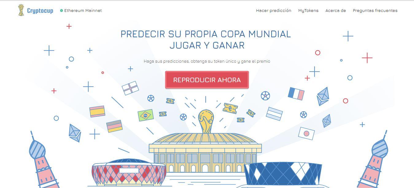 Cryptocup logo del primer juego de predicción de la Copa Mundial con blockchain