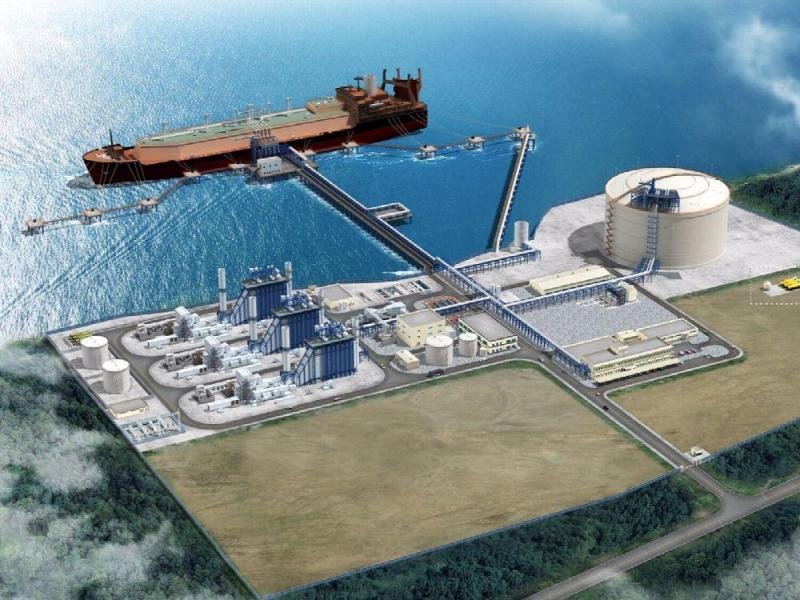 Maqueta de la planta de gas natural