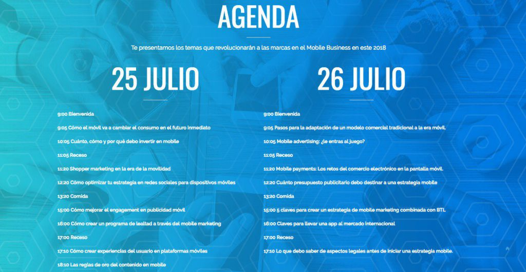 Agenda Mobile Marketing & Digital Trends