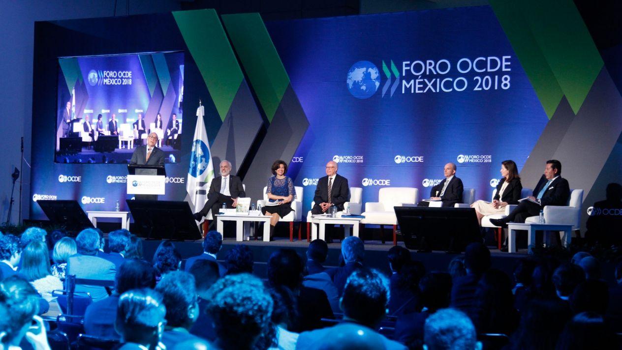 Foro Global de la OCDE tuvo una participación el pasado mes de marzo en el Foro OCDE México donde sugirieron bajar impuestos a las empresas. Fuente: Cuartoscuro