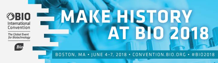 La convención Internacional BIO, organizada por la Organización de Innovación Biotecnológica, se celebrará en Boston MA del 4 al 7 de junio de 2018