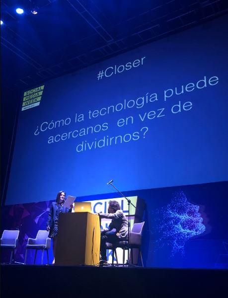 Paula Cutuli fundadora de SMWMéxico presenta la cuarta edición de este foro anual teniendo como tema principal #Closer