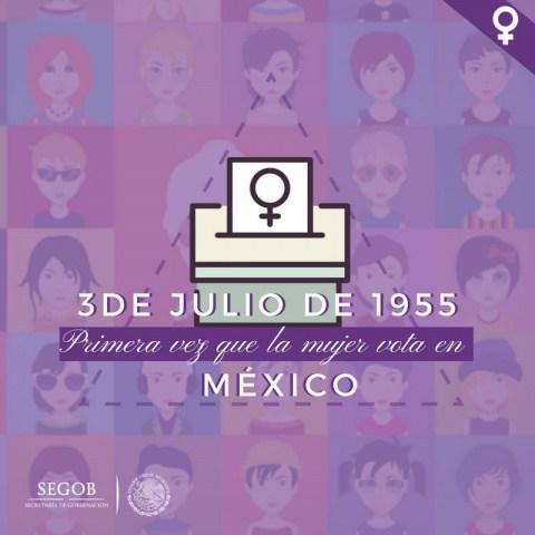 63 años del voto de la mujer en México