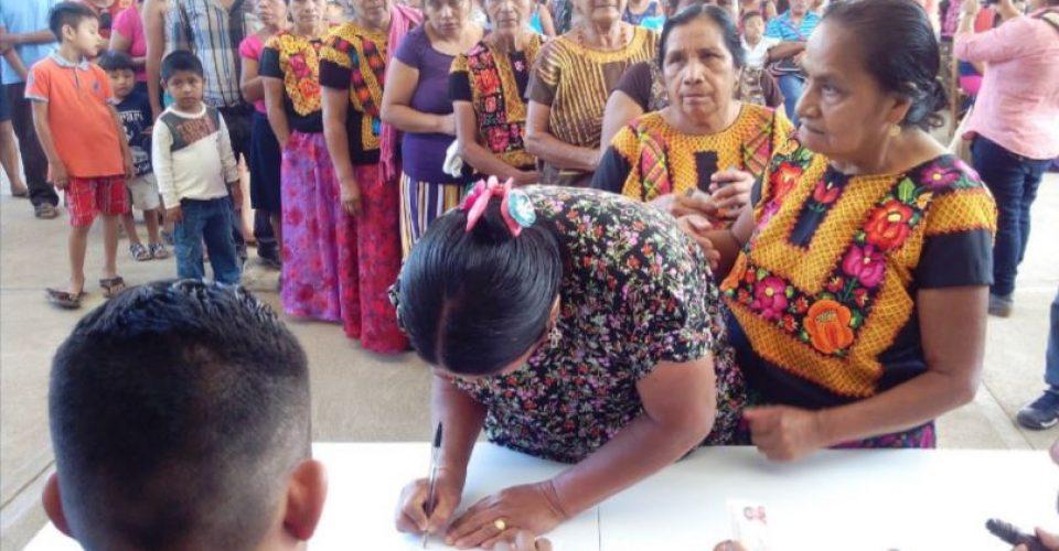 cinco mujeres indígenas fueron electas