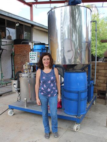 Violeta Bravo y biogás