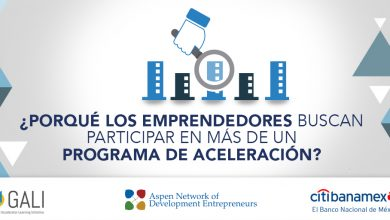 Programas de aceleración en México, reporte de GALI
