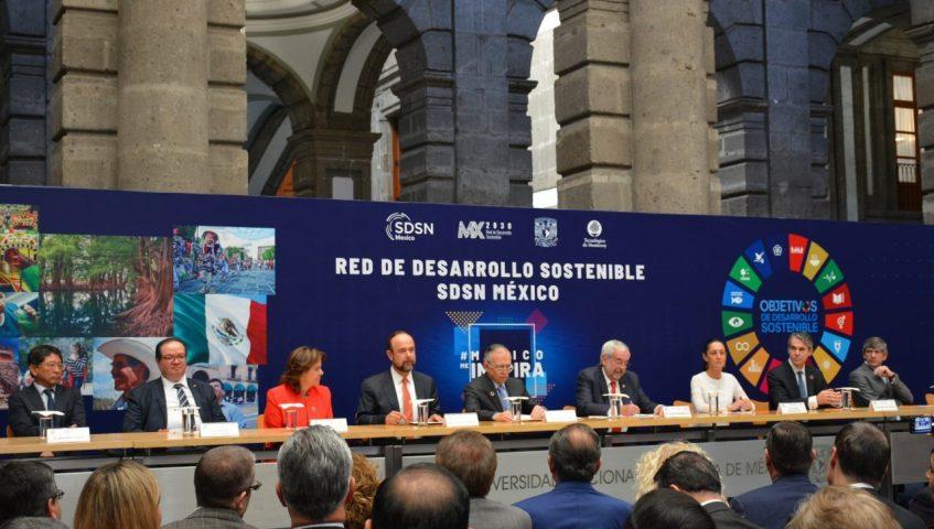 Presentación en México de la Red de Soluciones para el Desarrollo Sostenible (Red SDSN México)