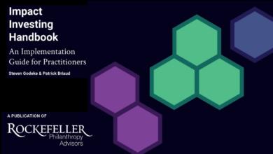 Photo of Manual de inversión de impacto: una guía de implementación para profesionales por Rockefeller Philanthropy Advisors.